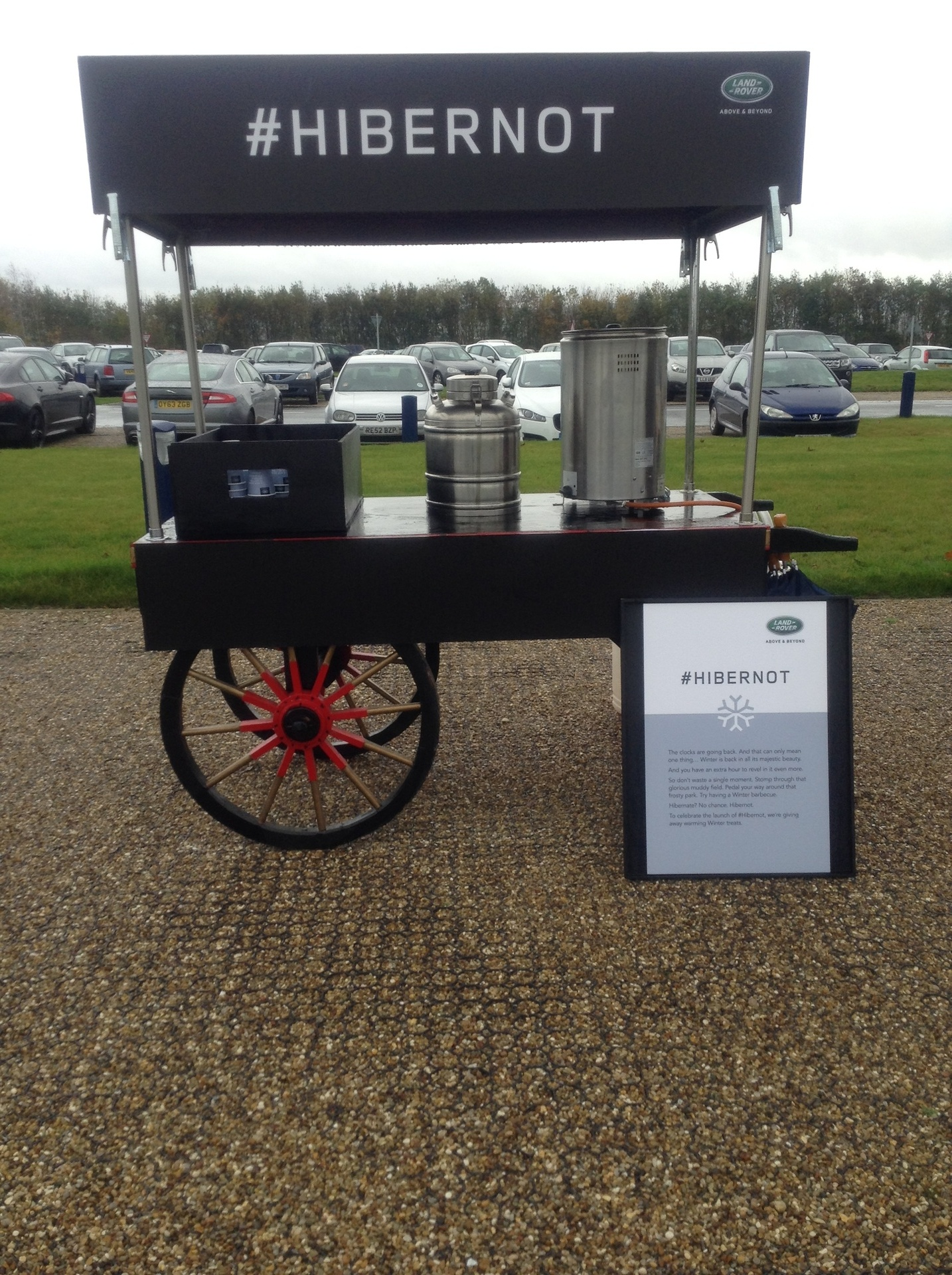 Branded Mulled Wine Cart